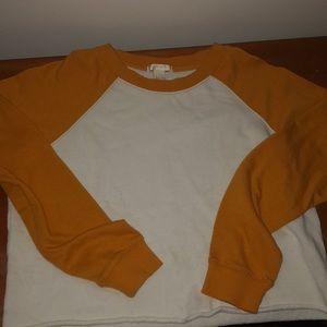 Forever 21 long sleeve cropped sweatshirt top